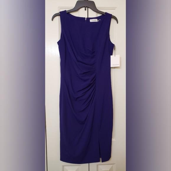 Calvin Klein Dresses & Skirts - Calvin Klein Sunburst Sheath Royal Purple 4 NWT